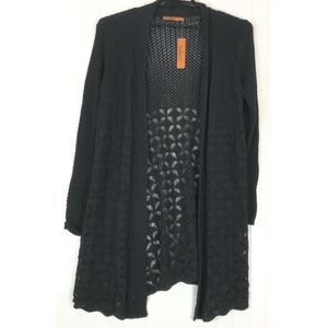 Belldini sweater long sleeve open front cardigan